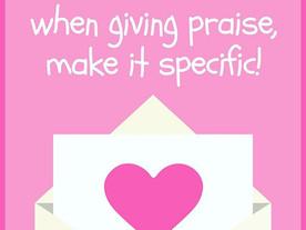 Pop of Knowledge: Positive Praise!