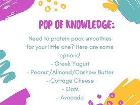 Pop of Knowledge: Let's Protein Pack!
