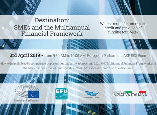 Destination: SMEs and the MFF | Fondazioen CS MARE & Gruppo di Iniziativa Italiana