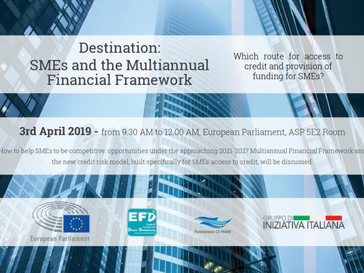 Destination: SMEs and the MFF | Fondazioen CS MARE & Gruppo di Iniziativa Italiana