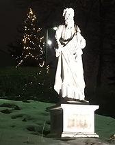 statue and tree winter night.jpg
