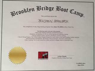 Brooklyn Bridge Boot Camp Trainer Weiterbildung in New York City