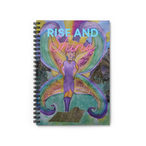 Rise and Shine Spiral Journal-Ruled Line