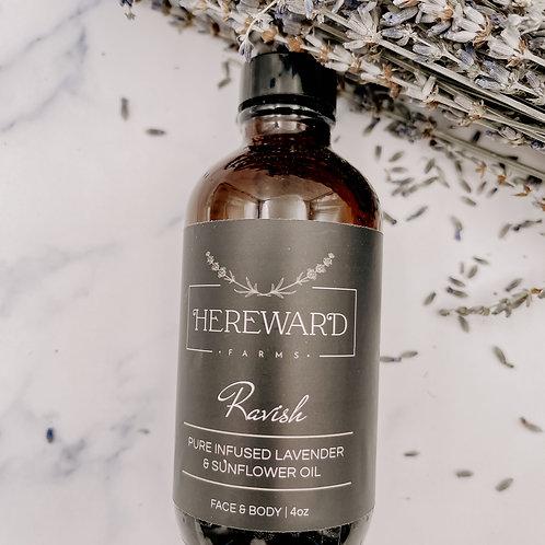 Ravish Infused Lavender + Sunflower Body Oil