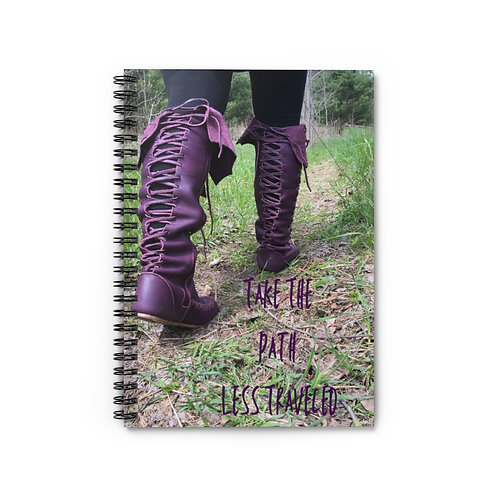 Take The Path Less Traveled Spiral Journal