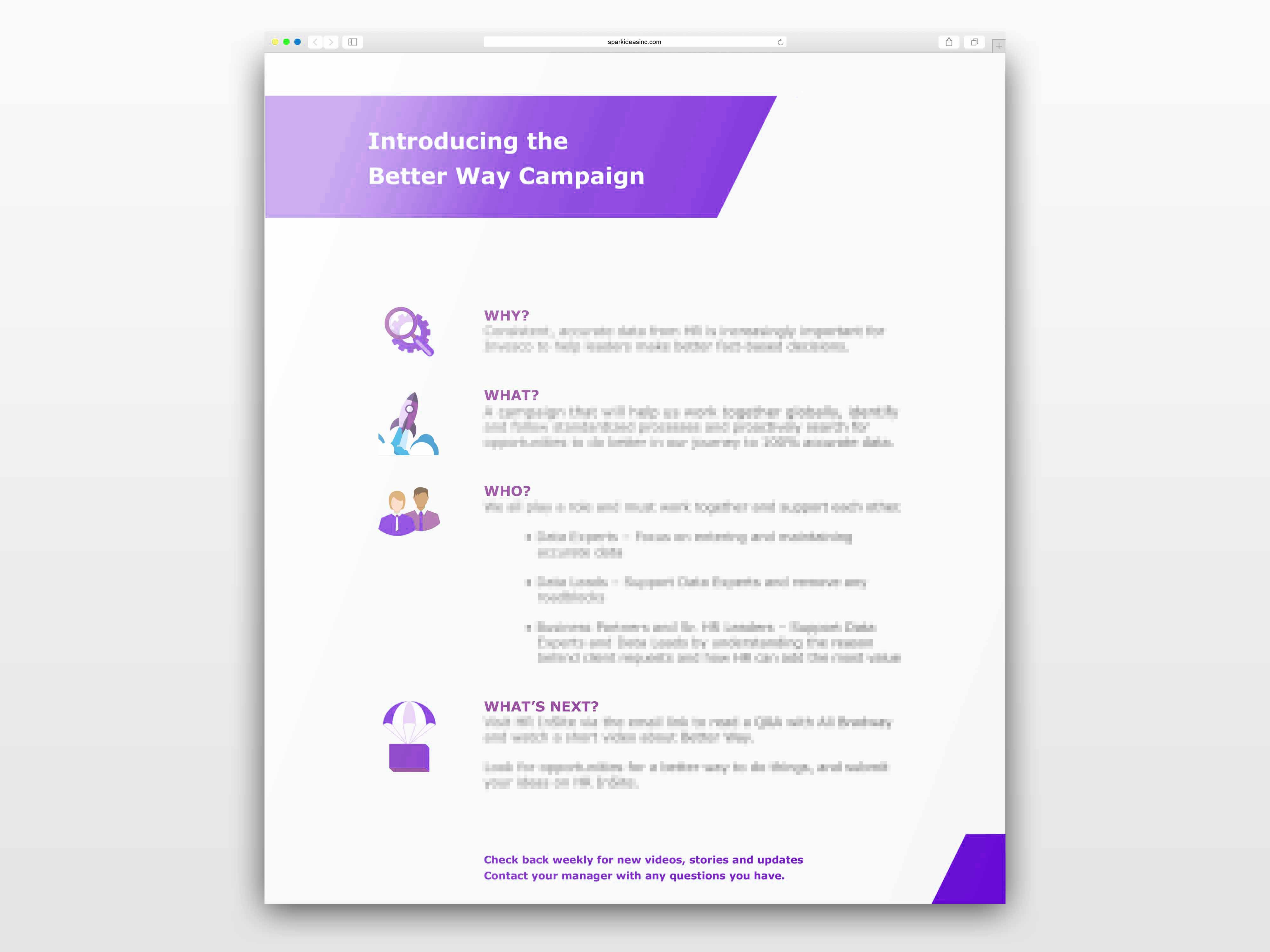 Better Way: Communications