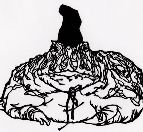 ベルツノガエルの殿様蛙