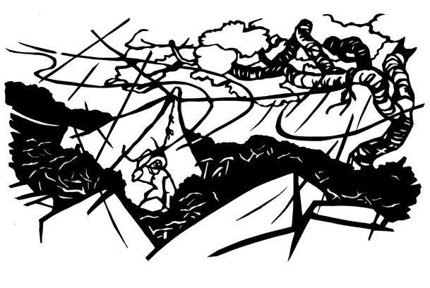 小島烏水『石・苔・偃松(白河内岳に登る記)白峰山脈縦斷記より』