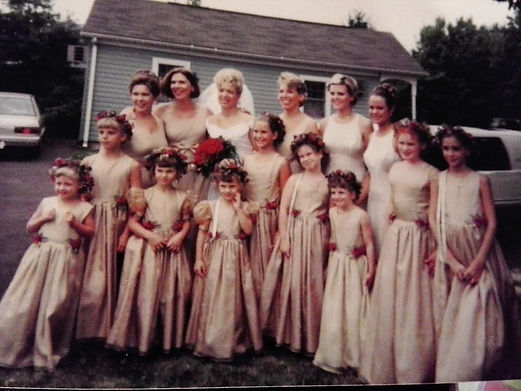 Colleen's beautiful weeding in 1995. It was a beautiful day!
