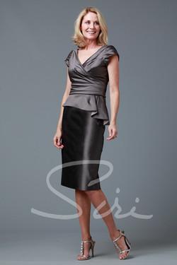 Siri  Dietrich Top /Back Slit Skirt (long)
