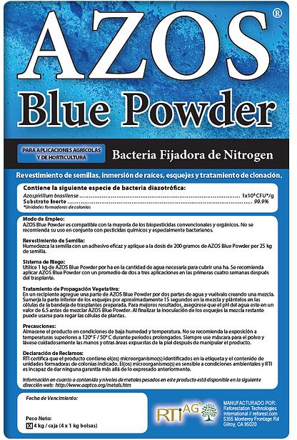 azos blue powder