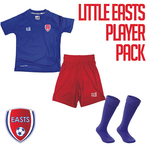 LITTLE EASTS PLAYER PACK size 5-6Yrs