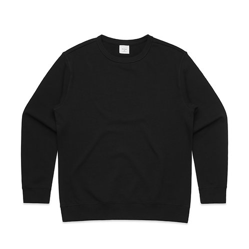 AS COLOUR PREMIUM CREW BLACK-WOMENS