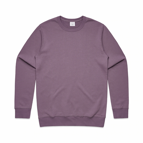 AS COLOUR PREMIUM CREW MAUVE-MENS