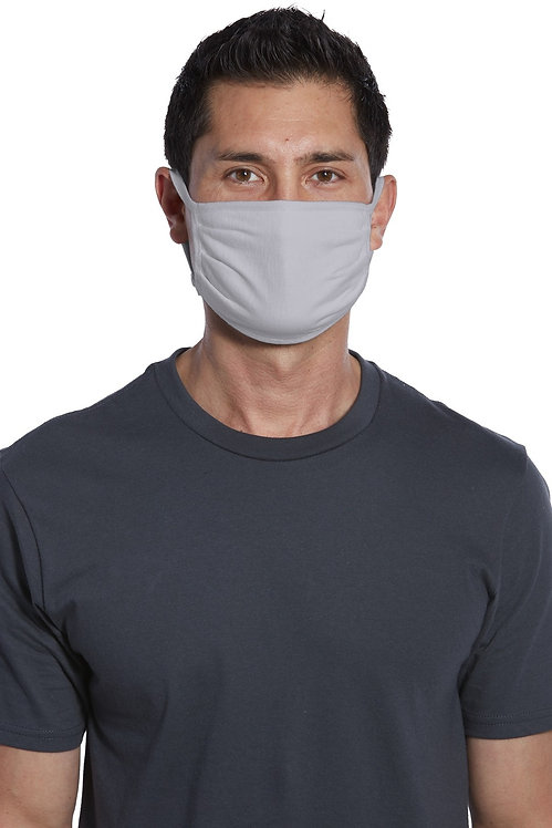 COTTON WASHABLE FACE MASK SILVER