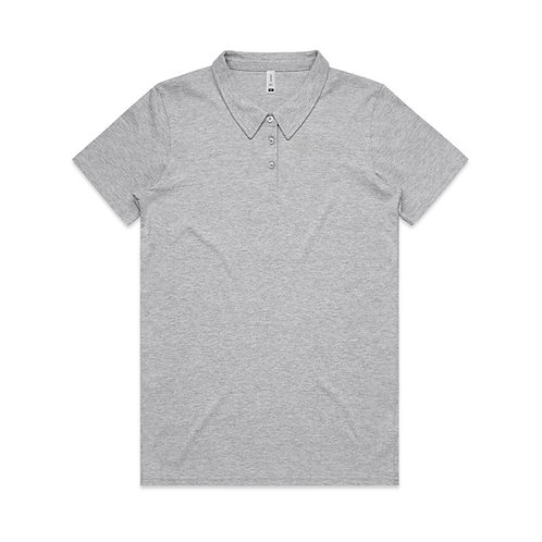 AS COLOUR AMY POLO SHIRT GREY MARLE-WOMENS