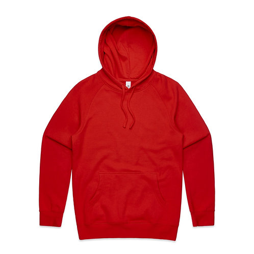 AS COLOUR SUPPLY HOOD RED-MENS