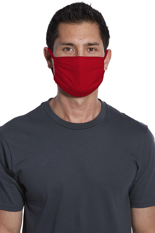 COTTON WASHABLE FACE MASK RED