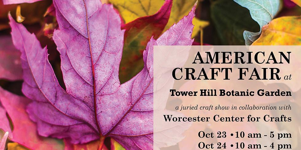 American Craft Fair at Tower Hill Botanic Garden
