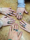 Fancy Bezel Rings