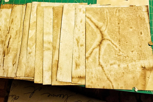 Coffee Dyed Papers