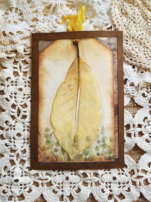 Double Journal Tag Pocket with Skeleton Leaf