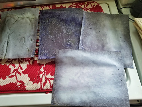 Raspberry Leaf & Sorel Dyed Paper