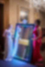 magic mirror photo booth interactive custom animations led light touch to start