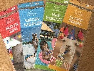 Slimline Funny Animal Calendars 2021