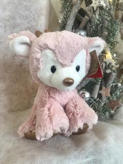 Pink Reindeer soft toy