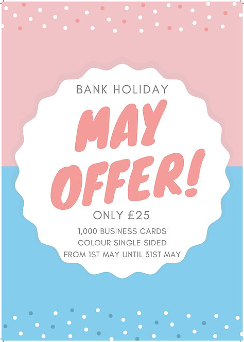 May Madness Offer