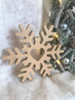 Wooden 'decorate yourself' Snowflake