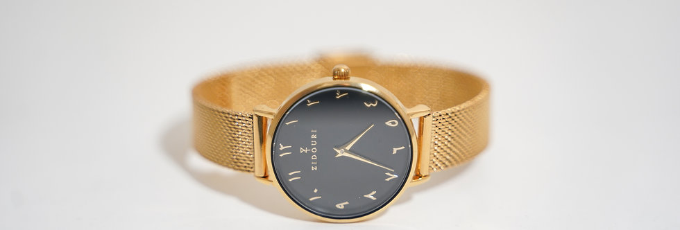 Gold Noire V2 Arabic Watch | Women