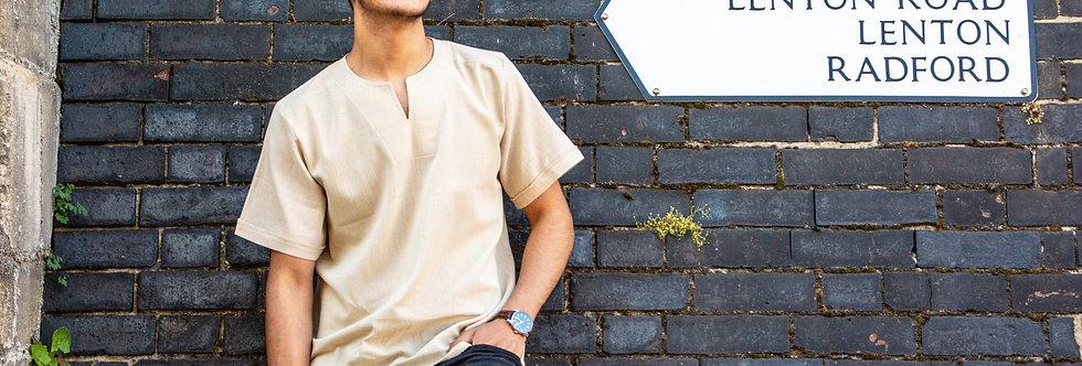 Short Sleeve Mens' Linen shirt | Ghardaïa
