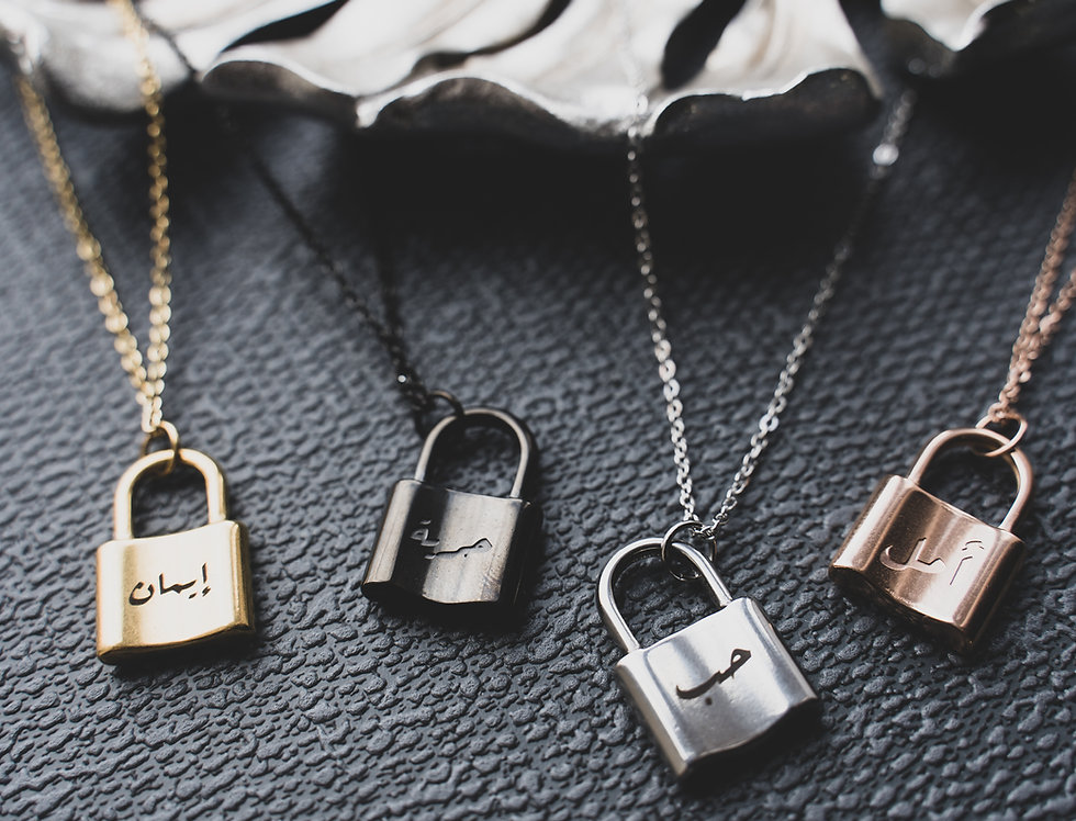 Custom Padlock Necklace