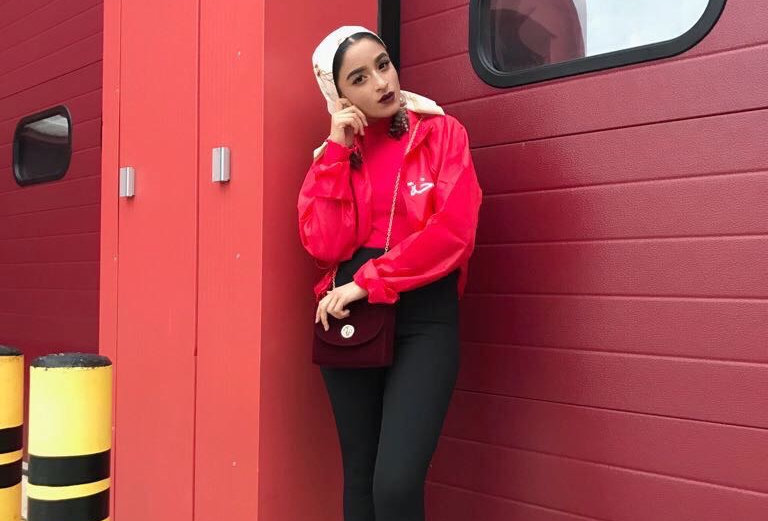 Red Arabic Windbreaker