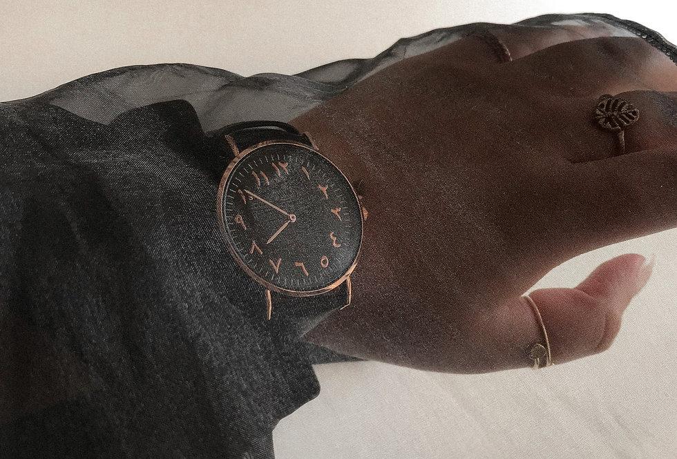 Arabic Watch   Double Noire