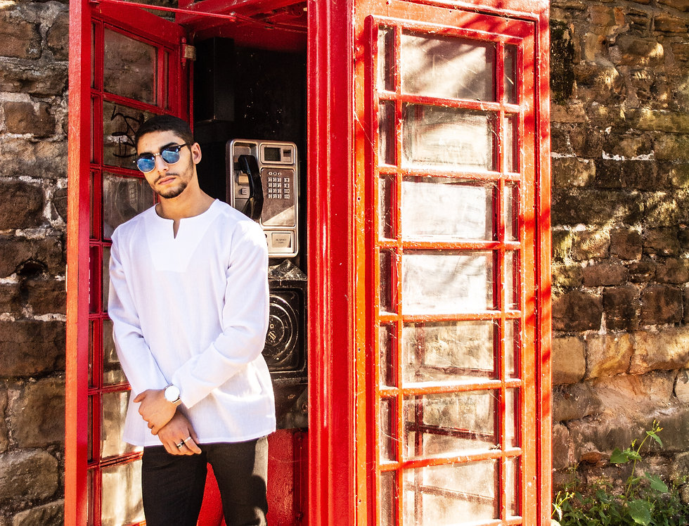 Long Sleeve Mens' Linen Shirt | Abayath