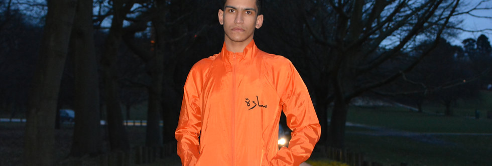 Orange Arabic Windbreaker