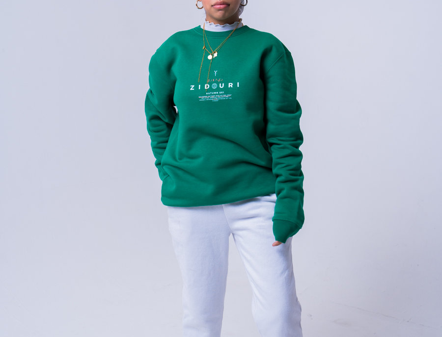 Zidouri Icon Sweatshirt (Varsity Green)