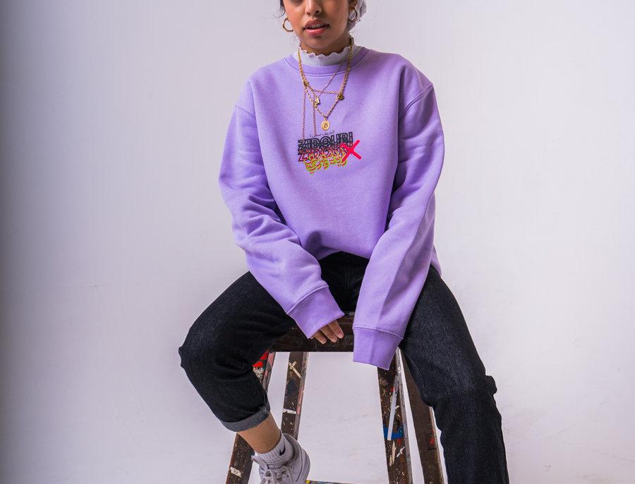 Zidouri Staple Sweatshirt (Lilac)