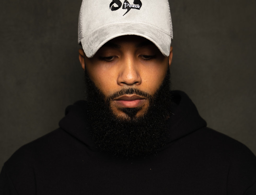 Grey Suede Power Arabic Hat