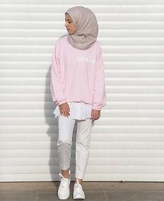Custom light pink jumper