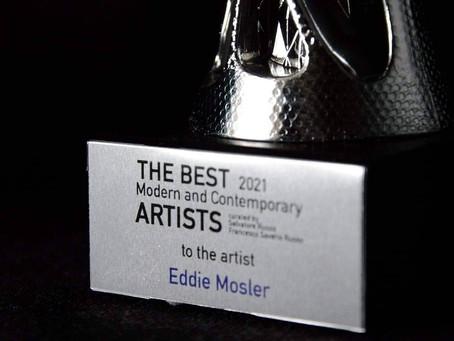 """Eddie Mosler gana premio de """"The best 2021 modern and contemporany artist"""""""