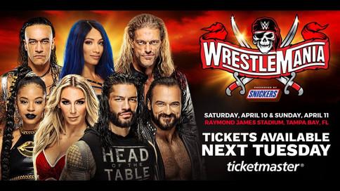 OFICIAL: WWE WrestleMania a celebrarse con público; Fecha de la venta de boletos