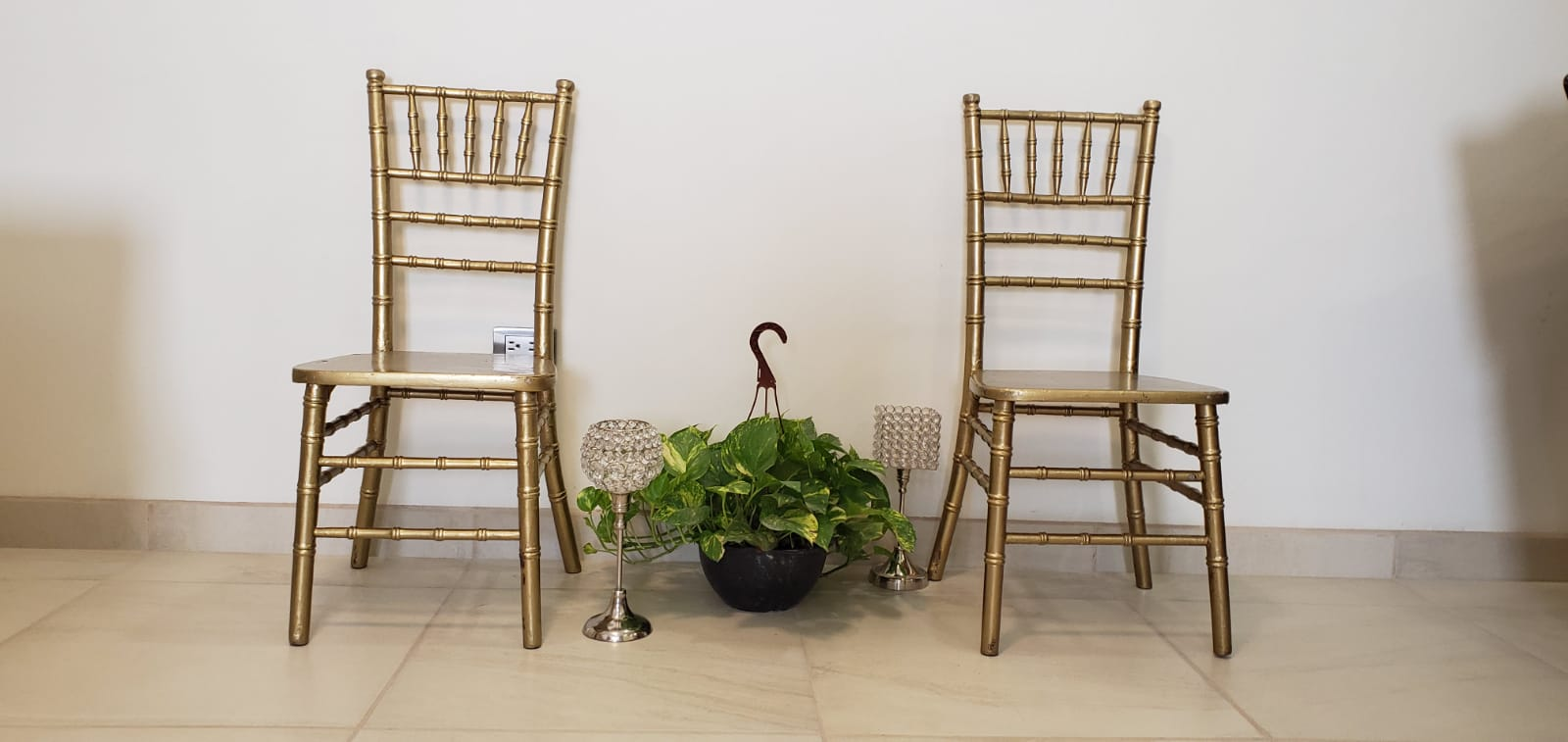 Tiffany chair gold color