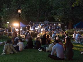 Summer night at the festival