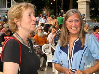 Executive Director, Peggy Friedman with Festival Chair, Jean Goetz