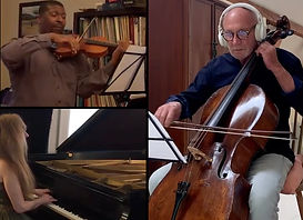 Lutz Rath, cello; Judith Lynn Stillman, piano; and Amadi Azikiwe, violin, perfortm osep Haydn's Piano Trio in F Major, Hob,XV:6 - 1 Vivace