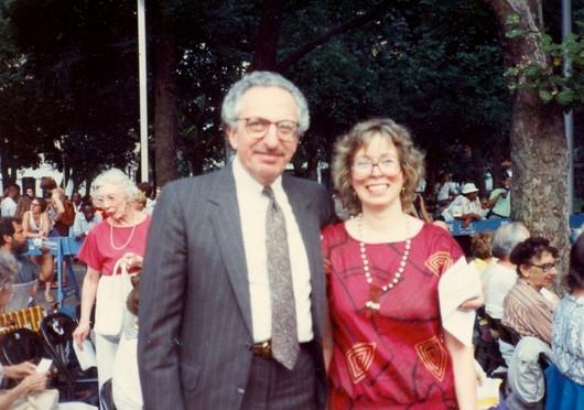 State Sen. Ohrenstein with Peggy Friedman